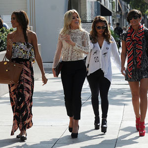The Saturdays go shopping in LA!