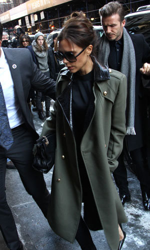 Victoria Beckham celebrates her New York fashion show with her family