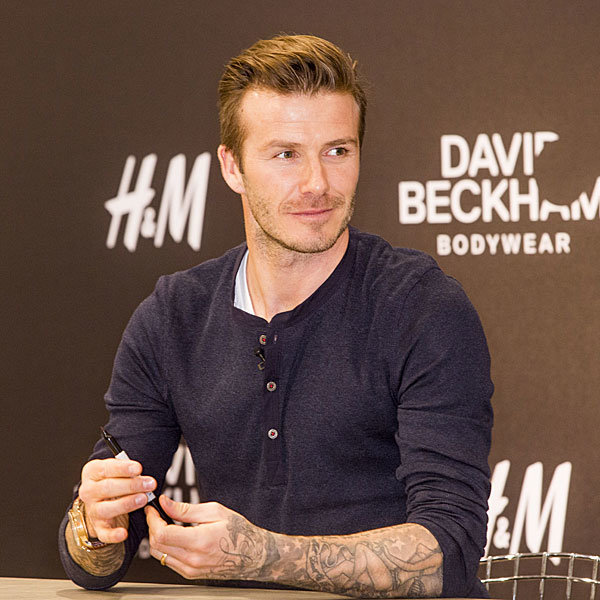 David Beckham presents H&M collection in Berlin
