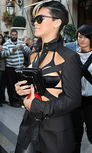 Rihanna and Katy Perry light up Paris front rows