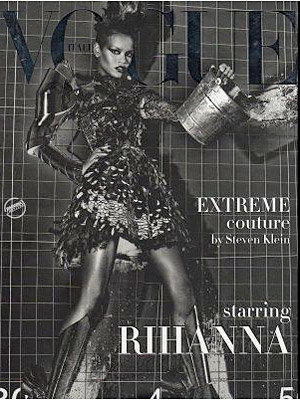 Rihanna goes topless and muzzled for new photo shoot