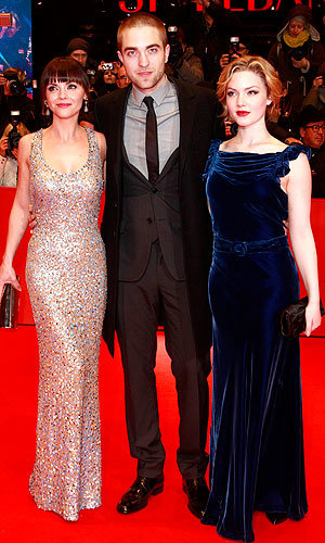 Robert Pattinson hits the Bel Ami Berlin premiere with a shaved head!