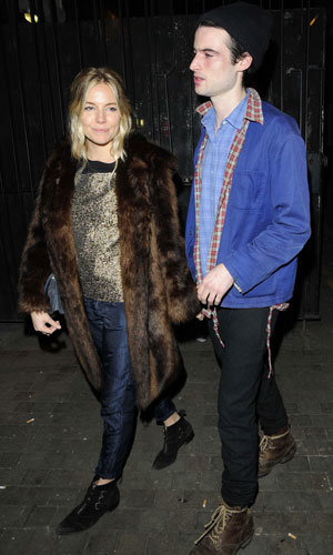 Sienna Miller and Tom Sturridge enjoy a night out in London