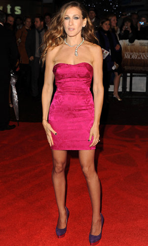 SJP and Liz Hurley wow in hot pink dresses at film premiere