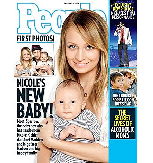 FIRST PICS: Nicole Richie introduces baby Sparrow