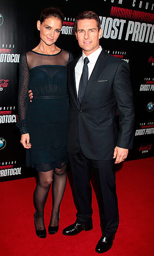 Katie Holmes and Tom Cruise style it up at the Mission Impossible Ghost Protocol premiere