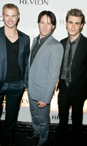 Kellan, Stephen and Paul: TV and film's hottest vampires pose for a pic on the red carpet
