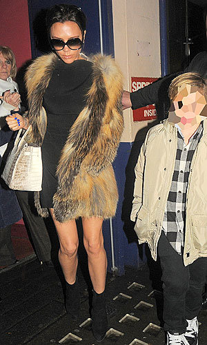 The Beckhams' family Christmas day out