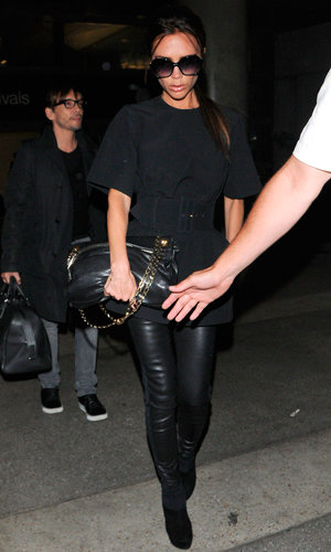 Victoria Beckham lands at LAX after Spice Girls reunion in London!