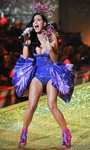 SEE PICS: Katy Perry goes fluro-fantastic at Victoria's Secret fashion show!