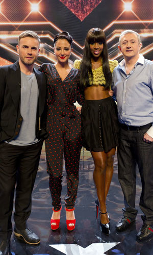 X FACTOR auditions begin! New judges Gary Barlow, Kelly Rowland and Tulisa Contostavlos kick things off...