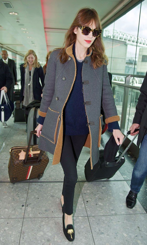 Alexa Chung lands back in London in style