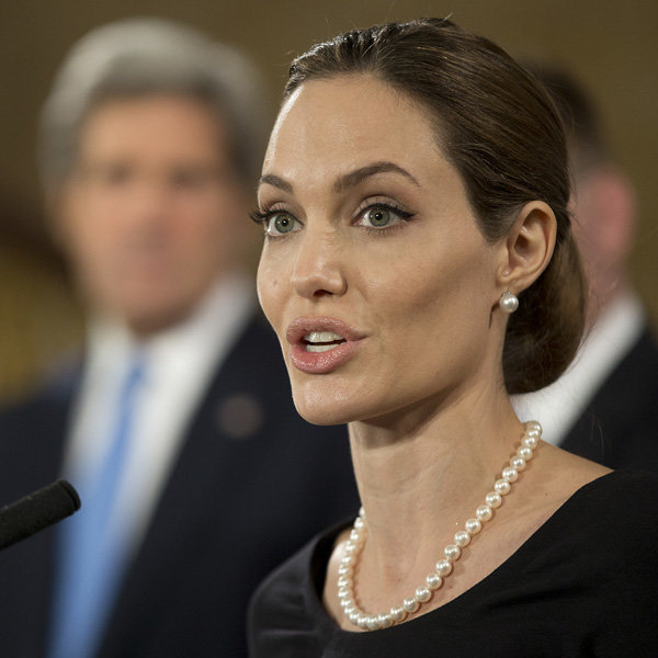 Angelina Jolie joins G8 summit in London