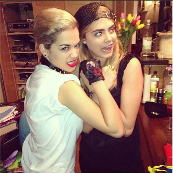 Cara Delevingne and Rita Ora enjoy a girls night in
