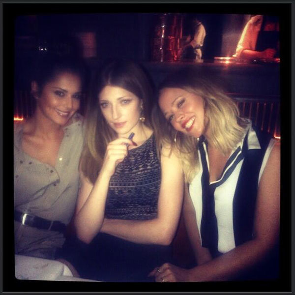 Cheryl Cole joins Nicola Roberts and Kimberley Walsh for a girls night out