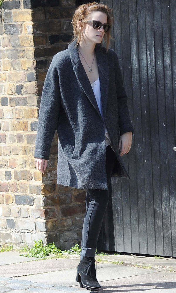 Emma Watson shows off her London style