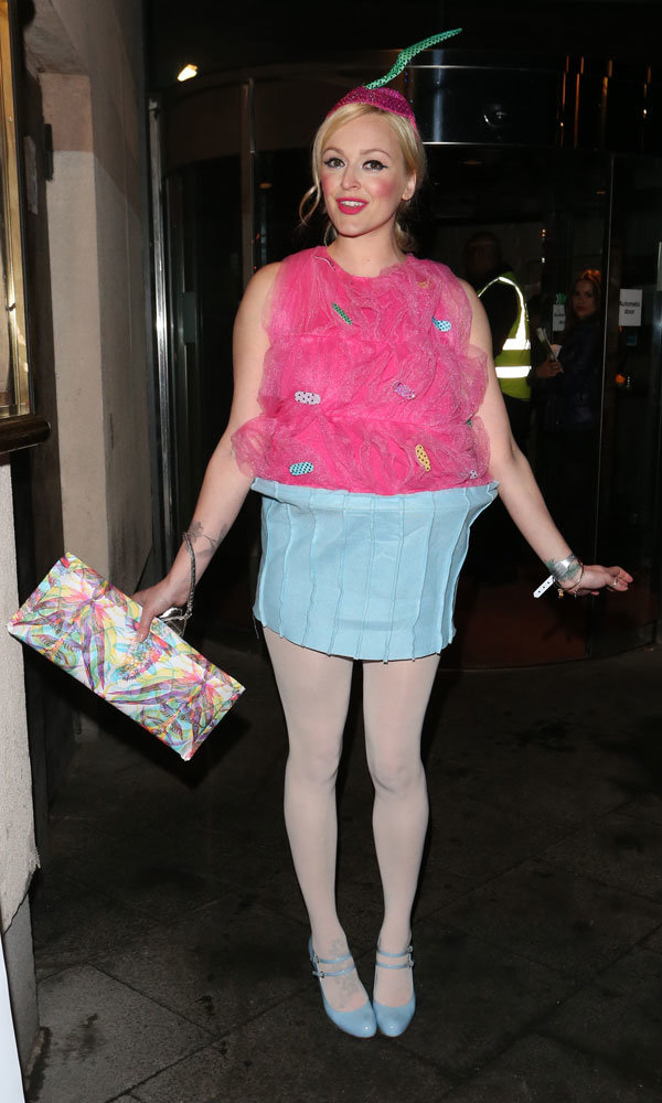 Fearne Cotton dresses up as a giant cupcake