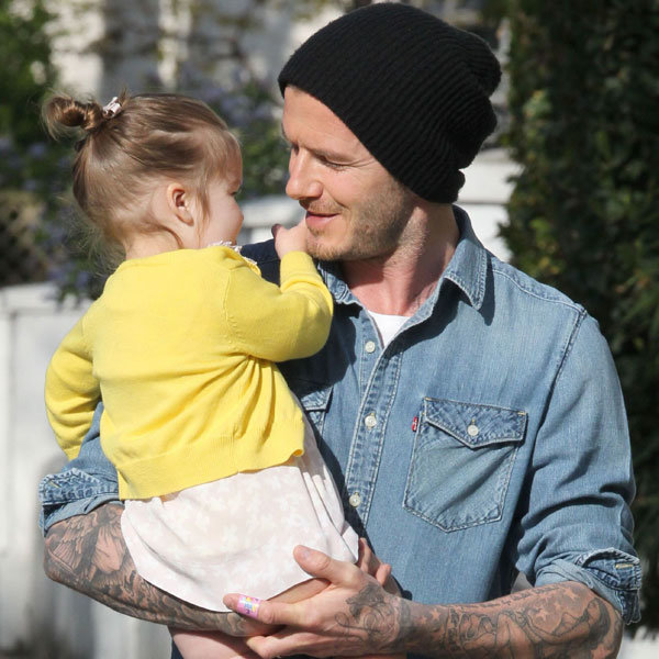 David and Harper Beckham go on another adorable outing…