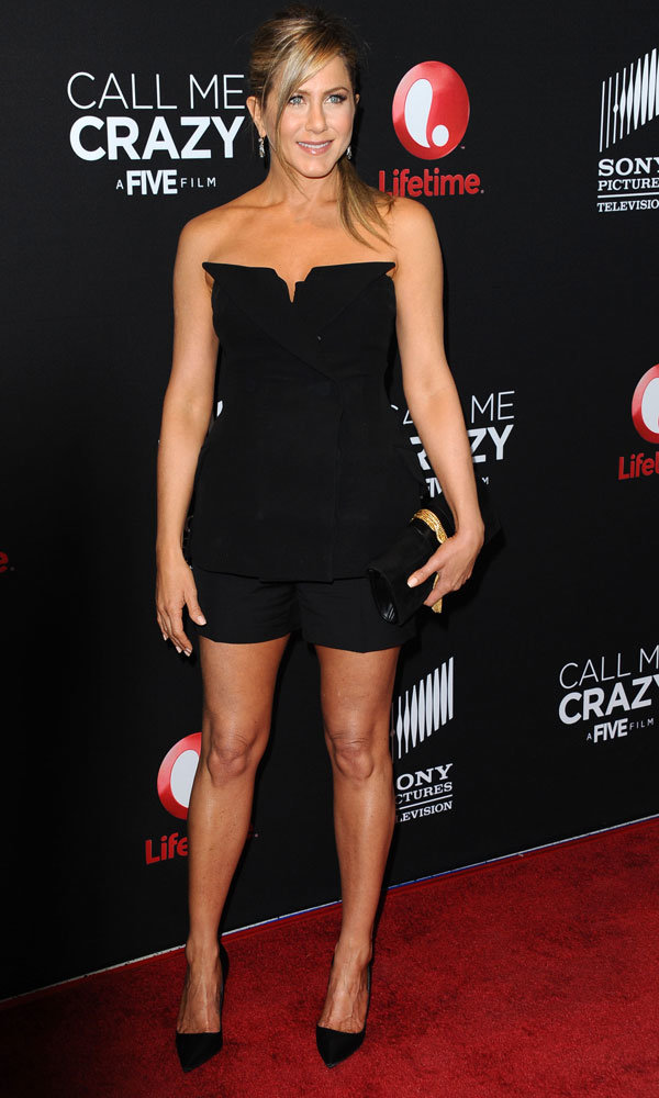 Jennifer Aniston sizzles in Christian Dior at the Call Me Crazy: A Five Film premiere