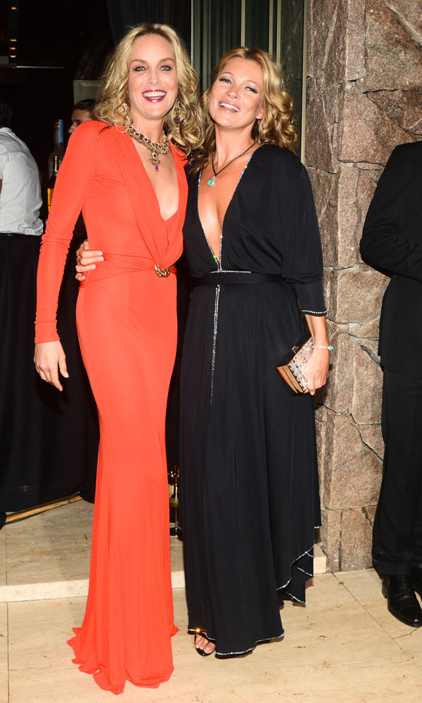 Kate Moss and Sharon Stone go glam at amfAR Inspiration Gala