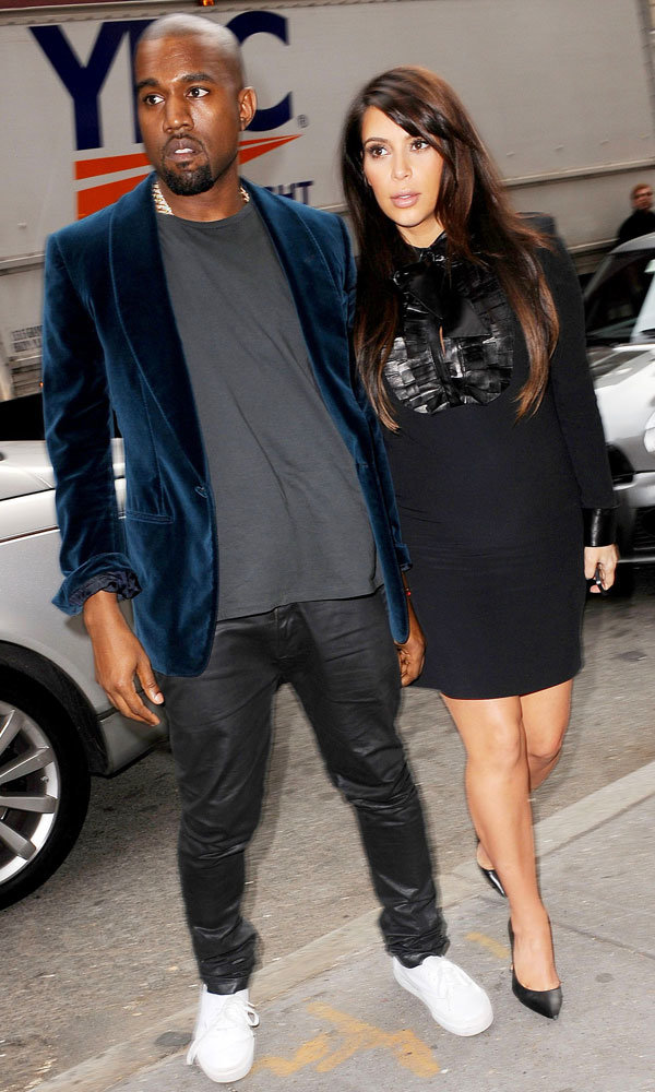 Kim Kardashian and Kanye West look loved-up in New York