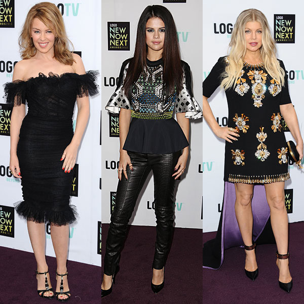 Kylie Minogue, Fergie and Selena Gomez wow at the NewNowNext Awards 2013
