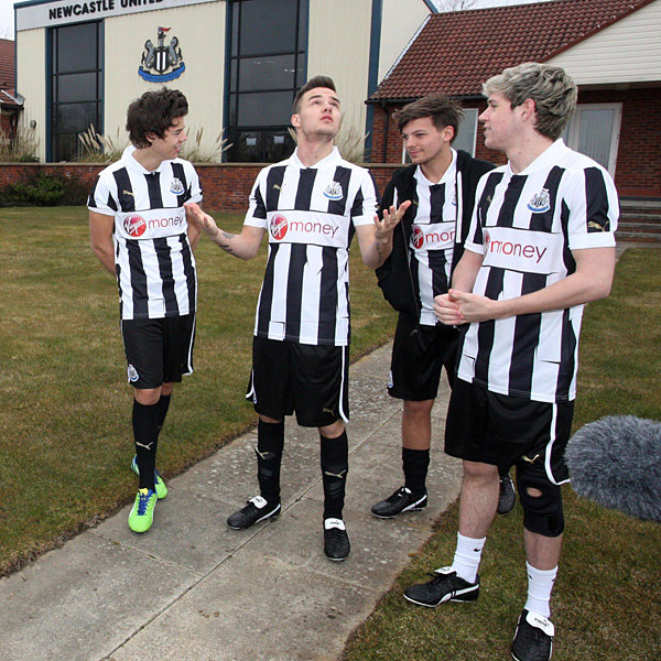 One Direction hit the football pitch ahead of final concert