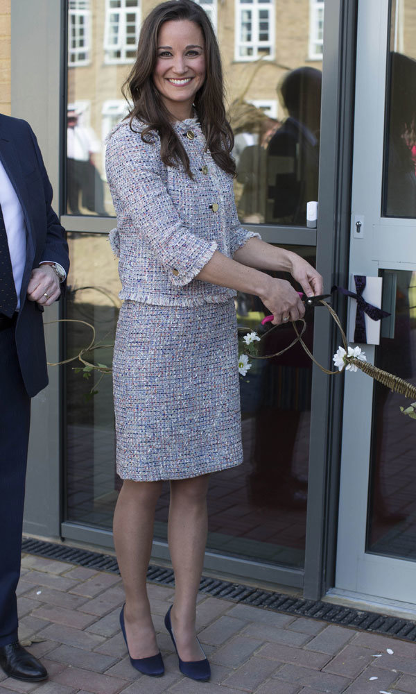 Pippa Middleton channels Kate Middleton's sophisticated style on charity visit