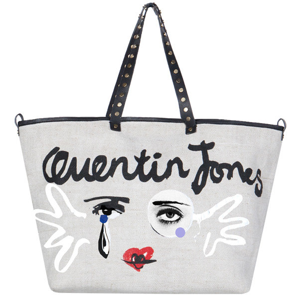 Quentin Jones designs charity bag for Hoss Intropia