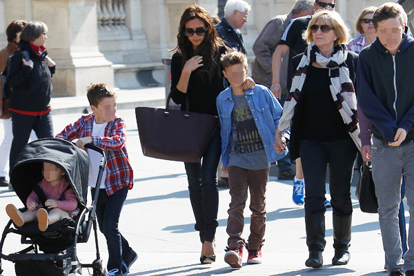 Victoria Beckham enjoys a family weekend in Paris