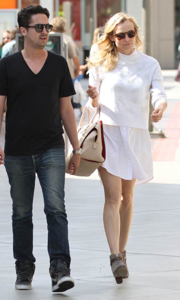 Diane Kruger works the all-white fashion trend