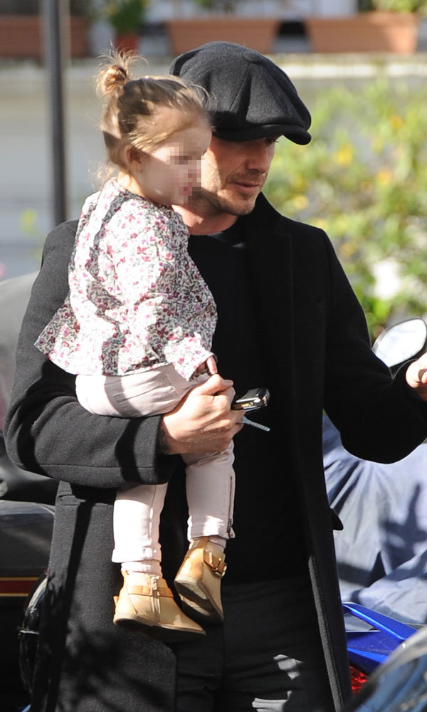 David and Harper Beckham enjoy a day out in London