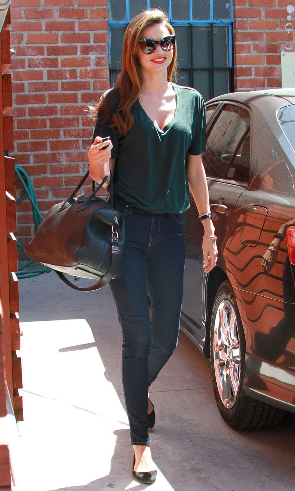 Miranda Kerr looks casually chic in LA