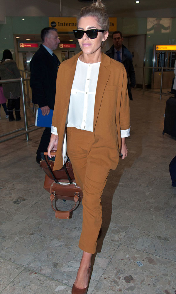Mollie King hits airport in style