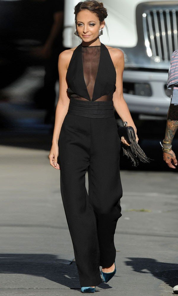 Nicole Richie's goes sheer on the Jimmy Kimmel Live show