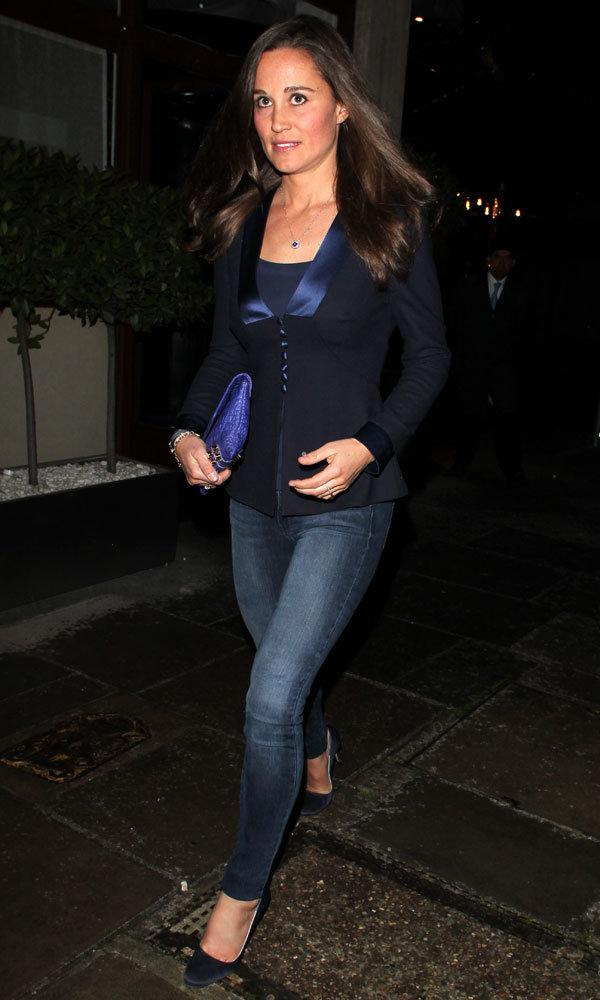 Pippa Middleton does dressed-down chic on a dinner date in Mayfair