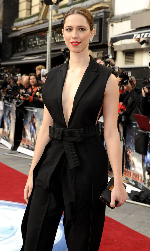 InStyle cover star Rebecca Hall wows on red carpet for Iron Man 3 premiere