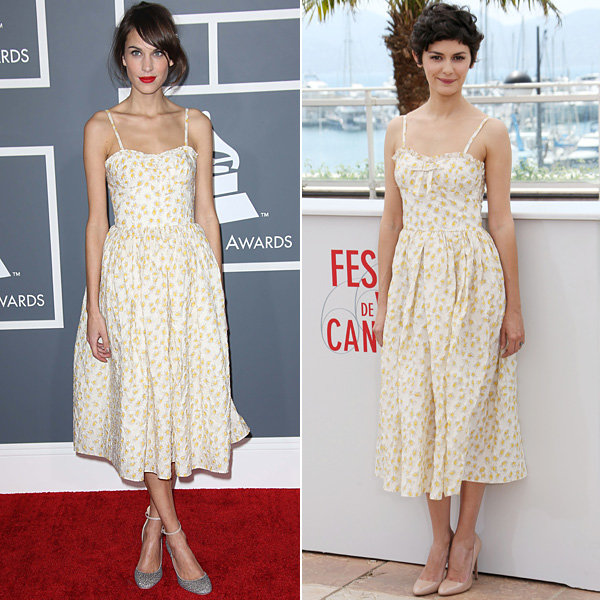 Audrey Tautou style snaps Alexa Chung at Cannes Film Festival 2013