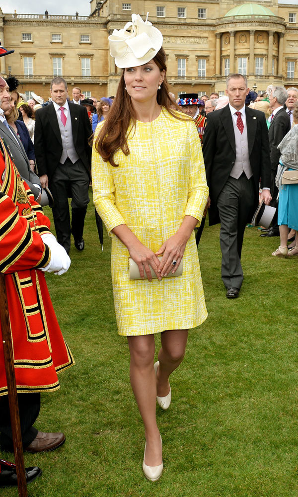 Kate Middleton wows with bright pregnancy style in yellow Emilia Wickstead dress