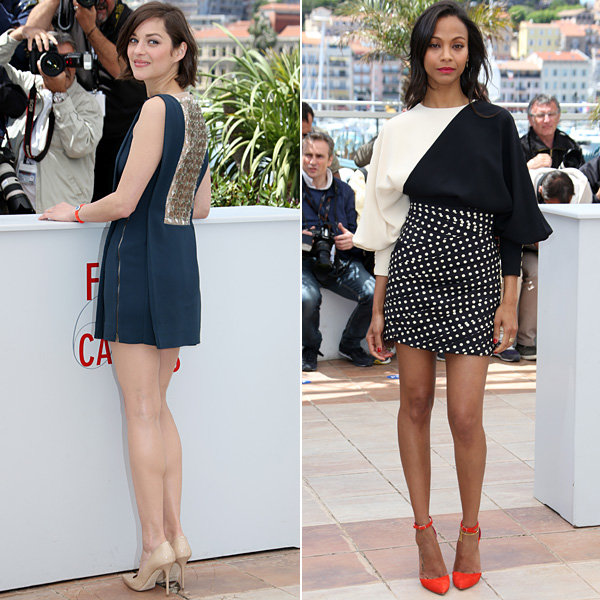 Cannes 2013: Zoe Saldana and Marion Cotillard's day-to-night fashion-off