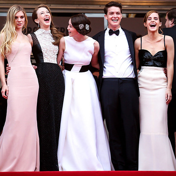 Emma Watson and Bling Ring co have a monochrome moment at Cannes 2013