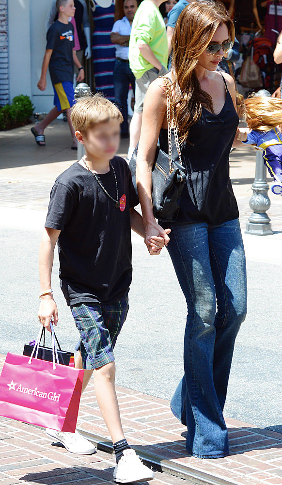 Victoria Beckham shops up a storm with help from son Romeo