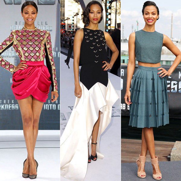 Zoe Saldana's Star Trek: Into Darkness style parade