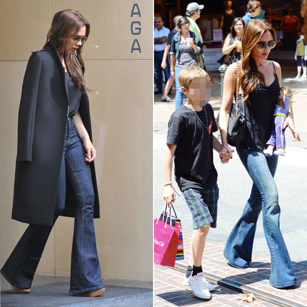 Victoria Beckham recycles her favourite flares