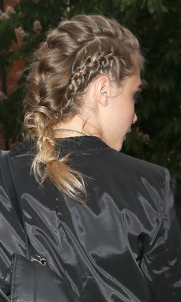 Get Cara Delevingne's modern French plait