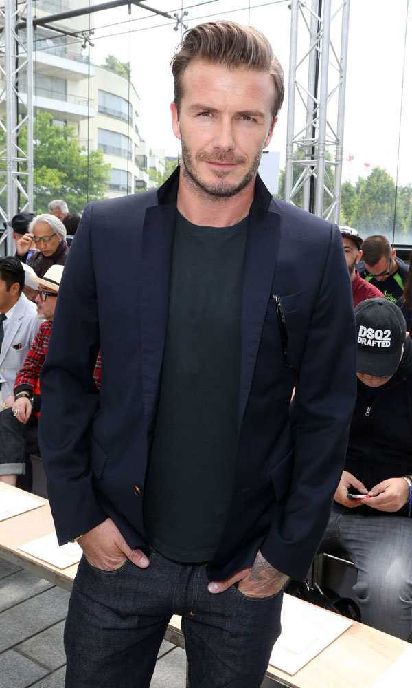 David Beckham hits the front row at Louis Vuitton's menswear show