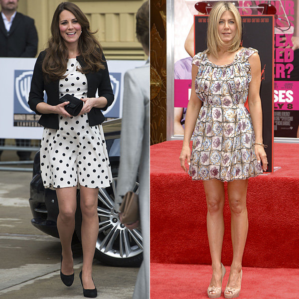 Has Kate Middleton inspired Jennifer Aniston's thrifty wedding guest style?
