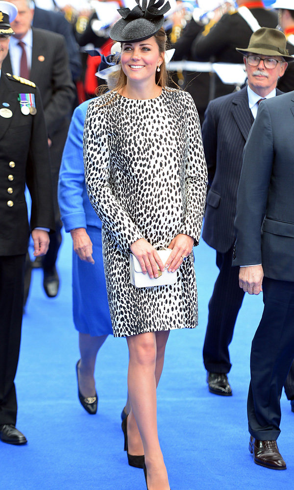 Kate Middleton wows in Hobbs dalmation print dress coat for Royal Cruises christening