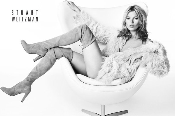 Kate Moss is back to blonde in Stuart Weitzman AW13 campaign
