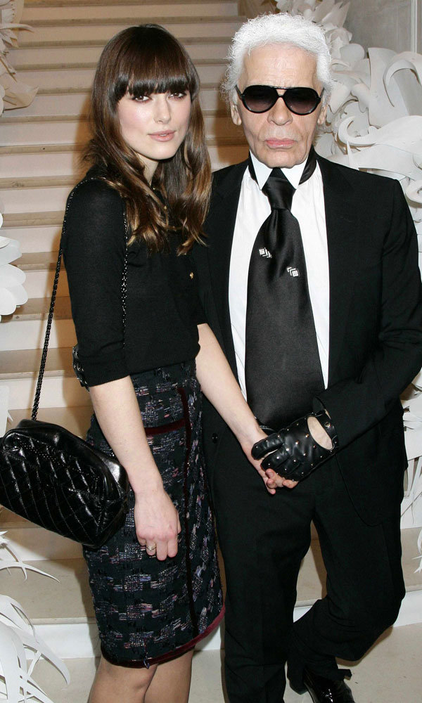 Karl Lagerfeld gives his verdict on Keira Knightley's wedding